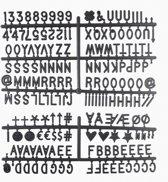 LEDR® Letterbord Letter Set Zwart - 354 letters & symbolen - 2,5 cm
