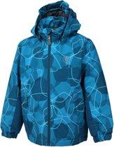 Color Kids Konrod Padded Winterjas AOP Junior  Sportjas - Maat 152  - Unisex - blauw