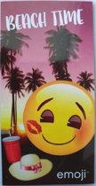 Emoji Beach Time Strandlaken 60 x 120 cm
