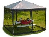 relaxdays klamboe voor partytent - 3 x 3 m - muskietennet - zijwanden paviljoen - zwart