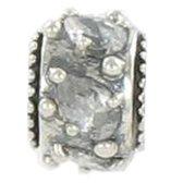 Quiges Bedel Bead - 925 Zilver - Zirkonia Kraal - Z594