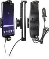 Brodit verstelbare houder-lader Samsung Galaxy S8+/S9+/S10+ met USB sig.plug 12/24V