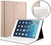 Toetsenbord Bookcase voor Apple iPad Air 2 - Bluetooth Keyboard Hoesje Cover Goud voor Air 2