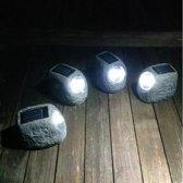 Keien met tuinverlichting solar - set van 4 stuks