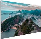Berglandschap Rio de Janeiro Glas 60x40 cm - Foto print op Glas (Plexiglas wanddecoratie)