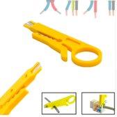 1 Stuk - Draadstripper - Striptang - Dopsleutel - Kniptang - geel -