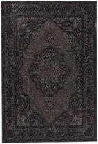 Donte 23 - Vintage vloerkleed in Zwart tinten