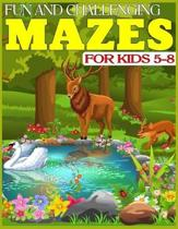 Fun and Challenging Mazes for Kids 5-8: The Amazing Big Mazes Puzzle Activity workbook for Kids with Solution Page