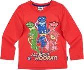 PJ-Masks T-shirt met lange mouw - rood - Maat 116
