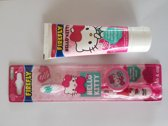 Hello Kitty tandpasta met Hello Kitty tandenborstel
