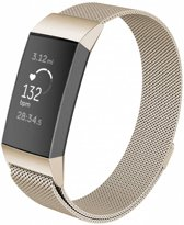 123Watches.nl Fitbit charge 3 milanese band - retro goud - ML