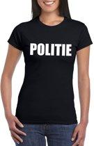 Politie tekst t-shirt zwart dames XS