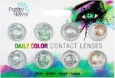 Pretty Eyes Kleurlenzen - Mix Blauw Groen Hazel bruin Parel grijs - 8 stuks - Daglenzen
