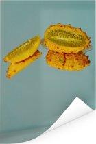 Een weerspiegeling van gehoornde meloenen Poster 20x30 cm - klein - Foto print op Poster (wanddecoratie woonkamer / slaapkamer)