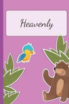 Heavenly: Personalized Name Notebook for Girls - Custemized with 110 Dot Grid Pages - Custom Journal as a Gift for your Daughter