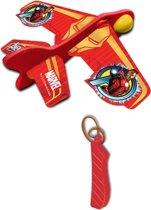 Marvel Katapult Vliegtuig Avengers: Ironman 12 Cm Rood/geel