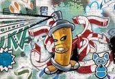 Fotobehang Graffiti Street Art | XXL - 312cm x 219cm | 130g/m2 Vlies