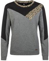 Protest PHI Sweater Dames - Dark Grey Melee - Maat S/36