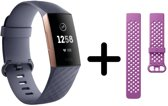 Fitbit Charge 3 - Activity tracker - Blauw grijs m
