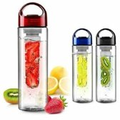 Zwarte Fruit Infuser Waterfles met fruit filter 700 ML BPA vrij