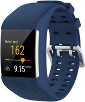 Siliconen Horloge Band Voor Polar M600 - Armband / Polsband / Strap / Sportband - Blauw