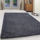 Hoogpolig shaggy vloerkleed - Milan 200x290 cm  Antraciet 4 CM