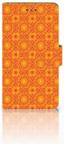 Nokia 7 Boekhoesje Design Batik Orange