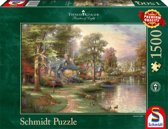 Schmidt Thomas Kinkade Hometown Lake 1500
