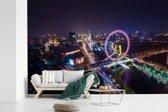Fotobehang vinyl - Paarse tinten in de stad Tianjin breedte 540 cm x hoogte 360 cm - Foto print op behang (in 7 formaten beschikbaar)