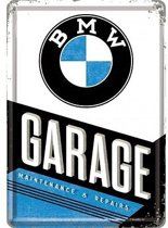 BMW Garage Metalen Postcard 10x14 cm