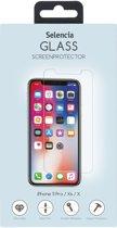 Merkloos Gehard Glas Screenprotector voor iPhone Xs - Transparant