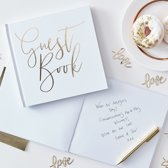 Ginger Ray Gold Wedding - 'Guest book' gastenboek - 20,5 x 21,5 cm - Wit/Goud