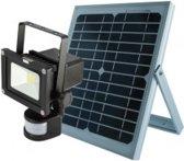 LED Bouwlamp SCHIJNWERP. 10W +SENSOR + SOLAR