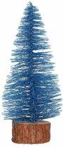 Kerstboompje op stam 25 cm - kerstversiering - blauw