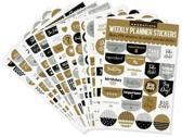 Essentials Weekly Planner Stickers, Blac