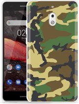 Nokia 2.1 Hoesje Army Camouflage Green