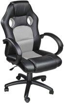 Tectake - Luxe design bureaustoel racing style grijs/zwart