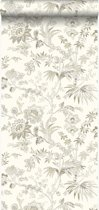 Origin behang bloemen beige - 326124
