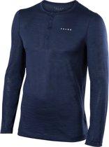 FALKE Silk Wool Longsleeved Shirt Heren 33421 - L - Marine