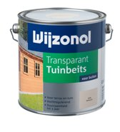 Wijzonol Transparant Tuinbeits - 2,25 liter - Whitewash