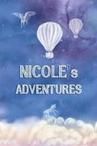 Nicole's Adventures: Softcover Personalized Keepsake Journal, Custom Diary, Writing Notebook with Lined Pages