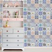 Walplus - Muursticker - Mozaiek tegel Patroon - Multicolor