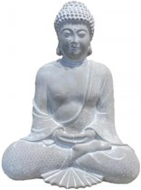 Beeld mediterende boeddha 28 cm
