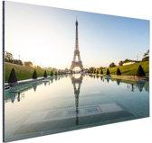 Eiffeltoren bij dag Parijs Aluminium 30x20 cm - Foto print op Aluminium (metaal wanddecoratie)