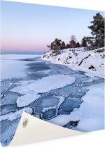 Bevroren zee Tuinposter 40x60 cm - klein - Tuindoek / Buitencanvas / Schilderijen voor buiten (tuin decoratie) / Zee en Strand