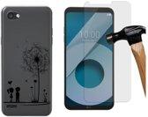 MP Case screenprotector PLUS Gratis Love back cover voor LG Q6