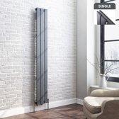 Designradiator Thera Premium Verticaal  Vlak Enkel Antraciet - 160 x 22.8 cm