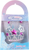 Free And Easy Prinsessenset Ster 3-delig Zilver/roze