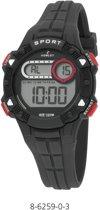 Nowley 8-6259-0-3 digitaal horloge 36 mm 100 meter zwart/ rood
