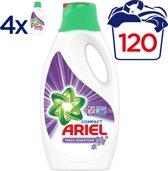 Ariel Fresh Purple Vloeibaar Wasmiddel - Voordeelverpakking 4x1650ml - 120 wasbeurten